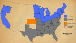 American civil war civilwarwiki by 1860 the united states was deeply divided into slavery and free states with the territory of kansas a portrait of things to come sciox Choice Image